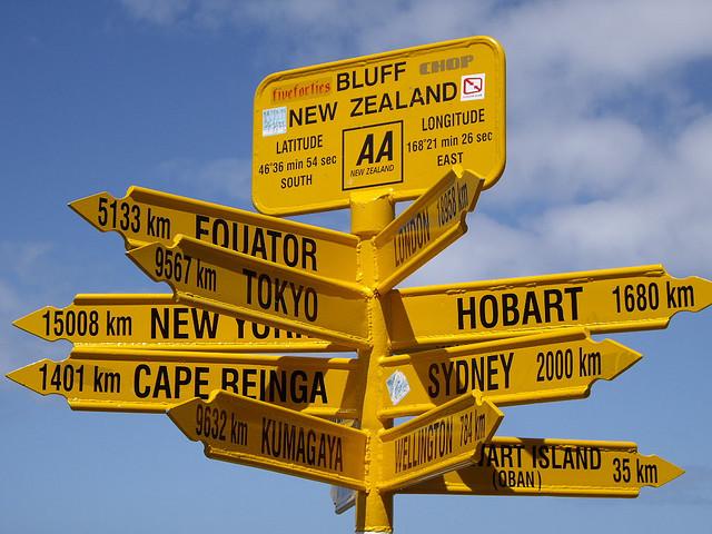 Bluff, State Highway 1, New Zealand