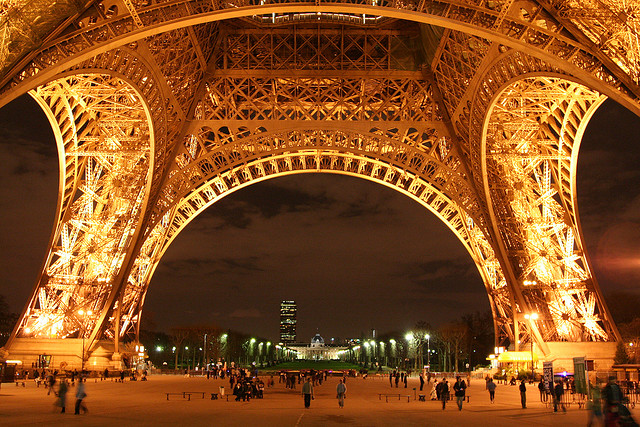 The view of the Arches of Eiffel Tower, France. Image: Colin Chau