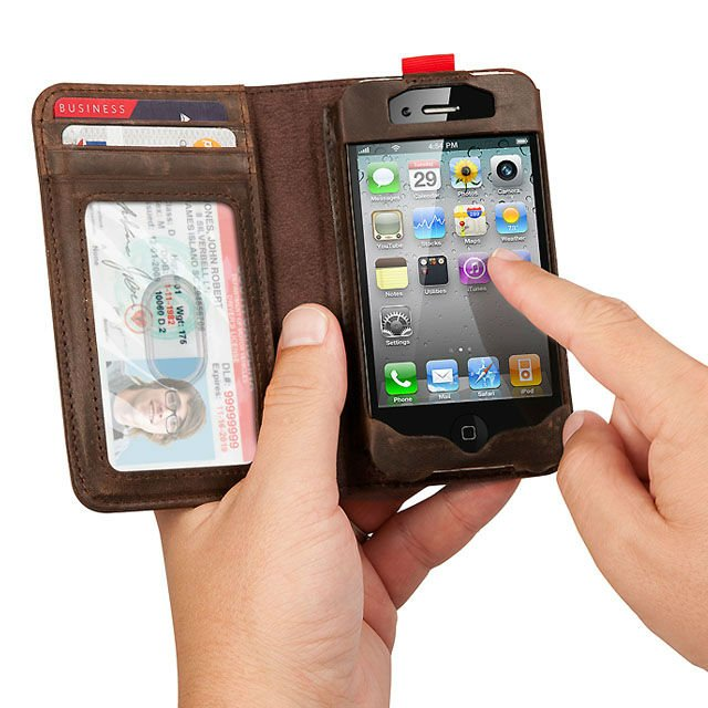 iphone leather book case 2