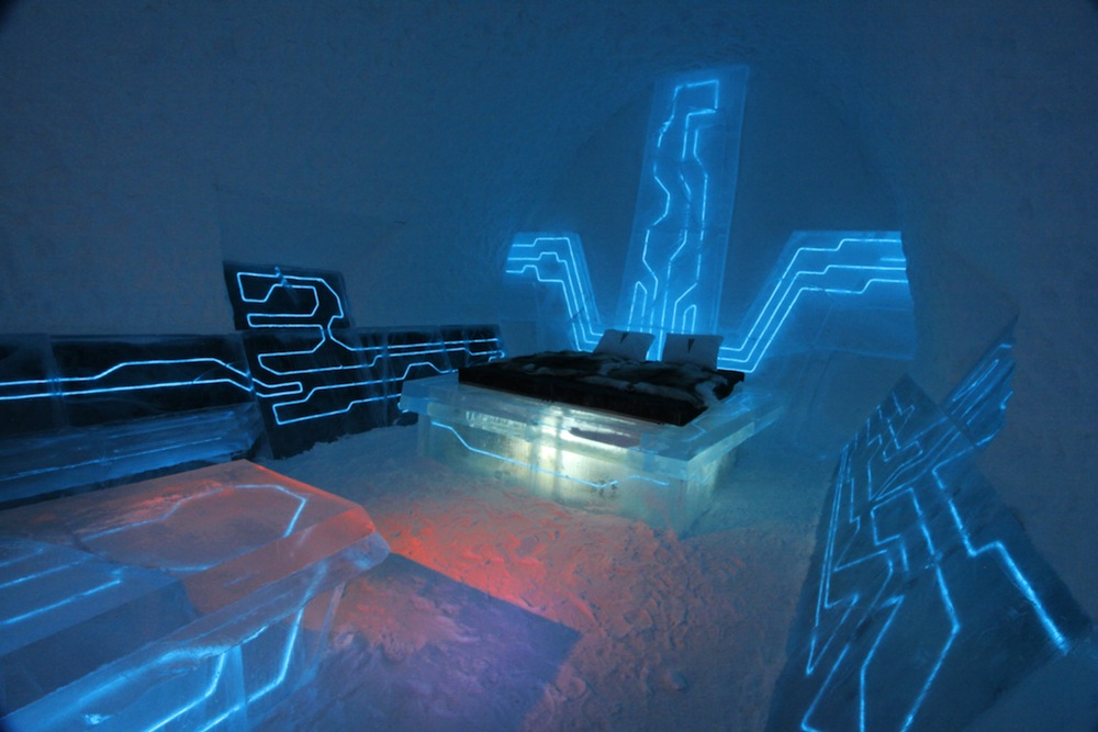 Disney-Tron-Legacy-inspired-legacy-of-the-river-suite-at-the-Ice-Hotel-arctic-sweden