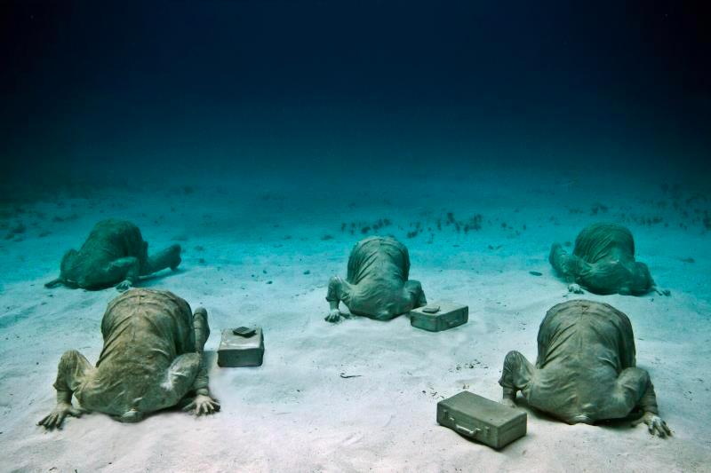 cancuns underwater museum jason de caires taylor