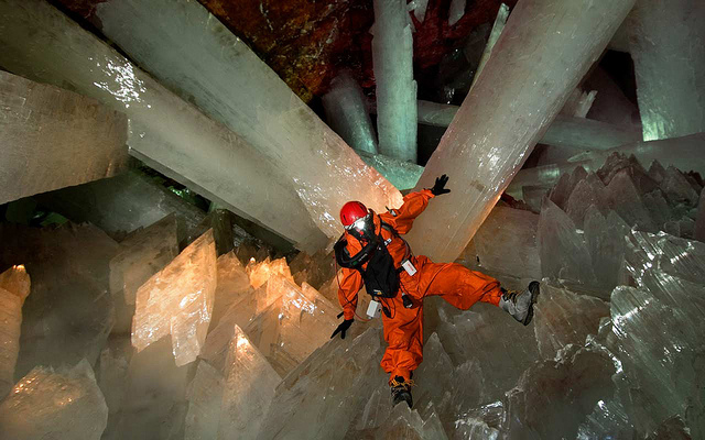 The Largest Crystals in the World at Naica Crystal Cave, Mexico
