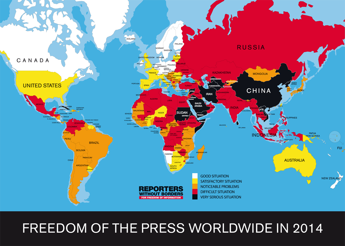 World Map Shows Where Press Freedom Is Strongest And Weakest ...