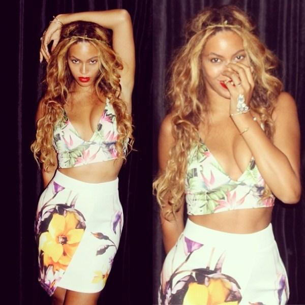 beyonce-instagram-topshop-bralet-skirt