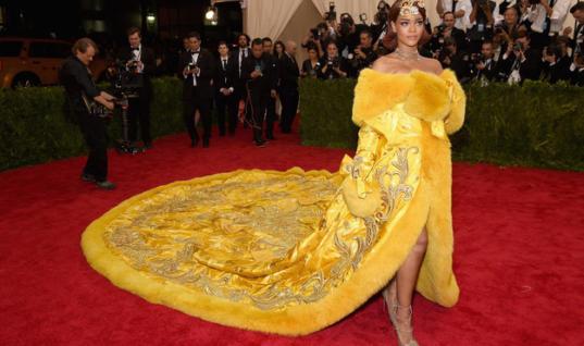 Rihanna's Met Gala Dress Inspires Hilarious Memes [VIDEO]