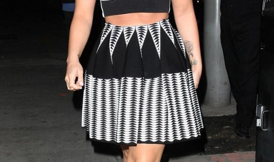 Demi Lovato Rocks Black & White Like a Pro