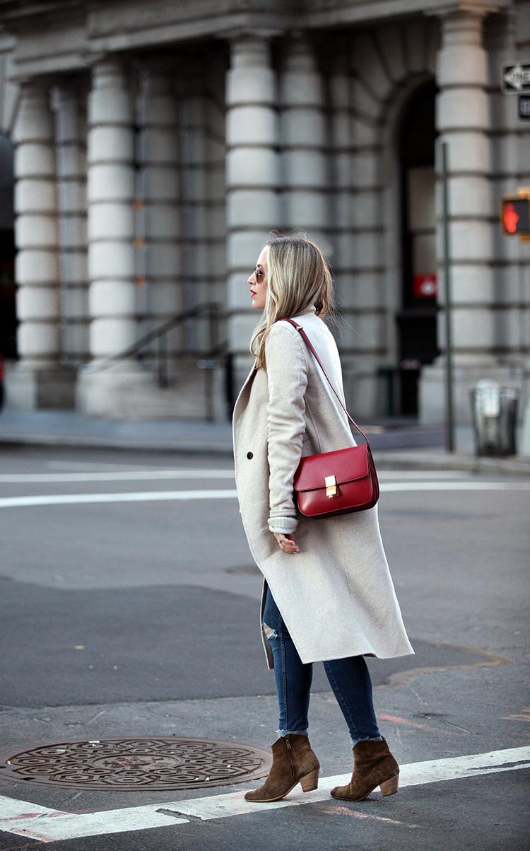 Celine Box Bag Red | Brooklyn Blonde