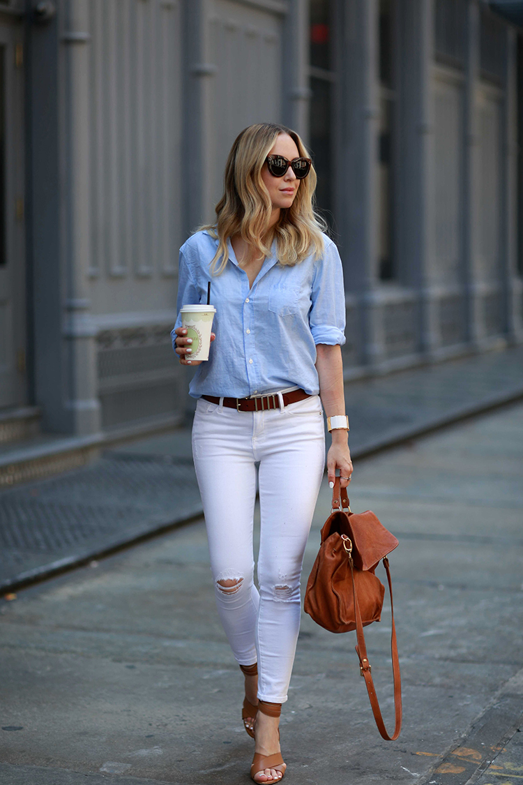 how to style white denim - brooklyn blonde