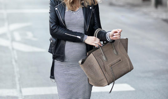 Maternity Style: Stripes and Lace-ups