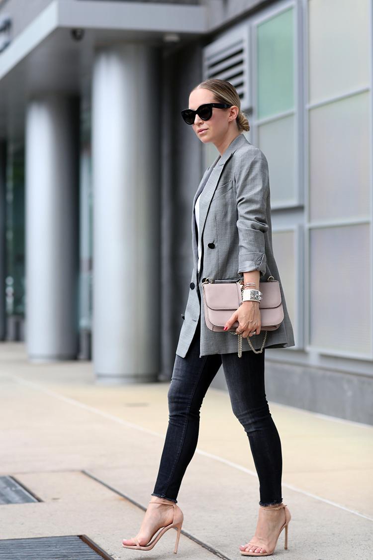 Oversized boyfriend blazer and skinny jeans - Brooklyn Blonde