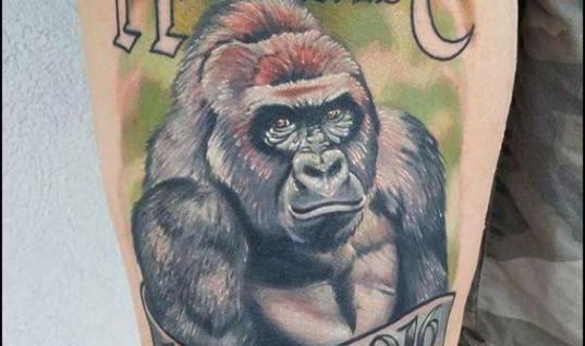 Harambe tattoos
