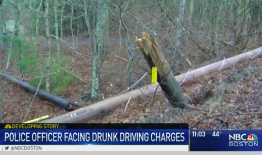 Massachusetts Police Officer Drunkenly Crashes Car Hours After Academy Graduation