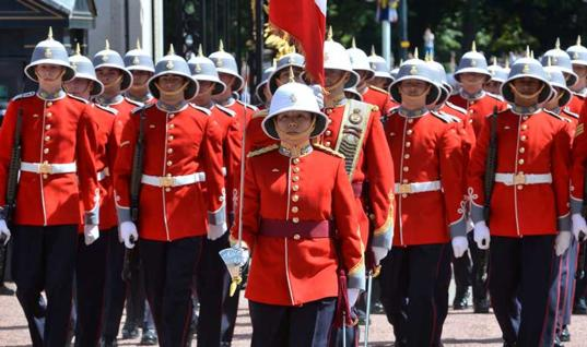 Finally a Woman Commands the Queen's Guard after 500 Years