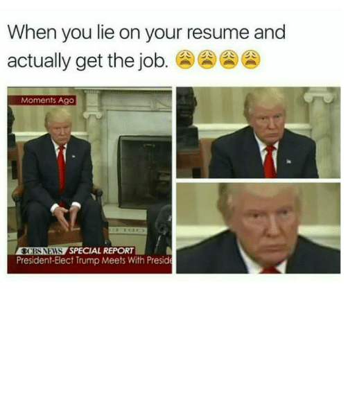 Shameless Memes About Lying on Your Resume – Mutually