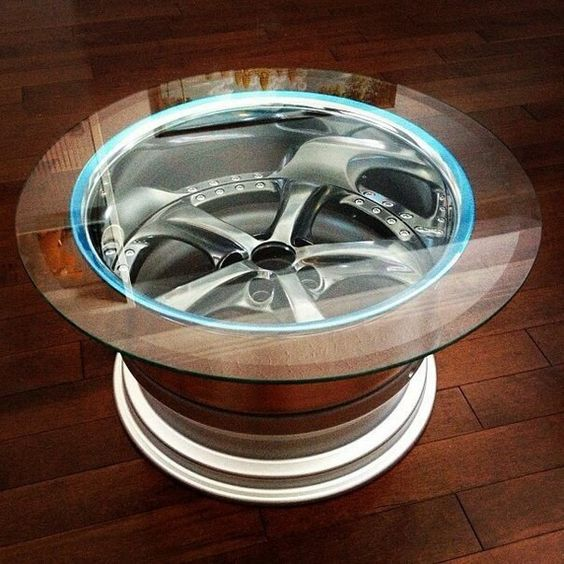 Fine 22 Led Car Tyre Coffee Table Mutually Gamerscity Chair Design For Home Gamerscityorg