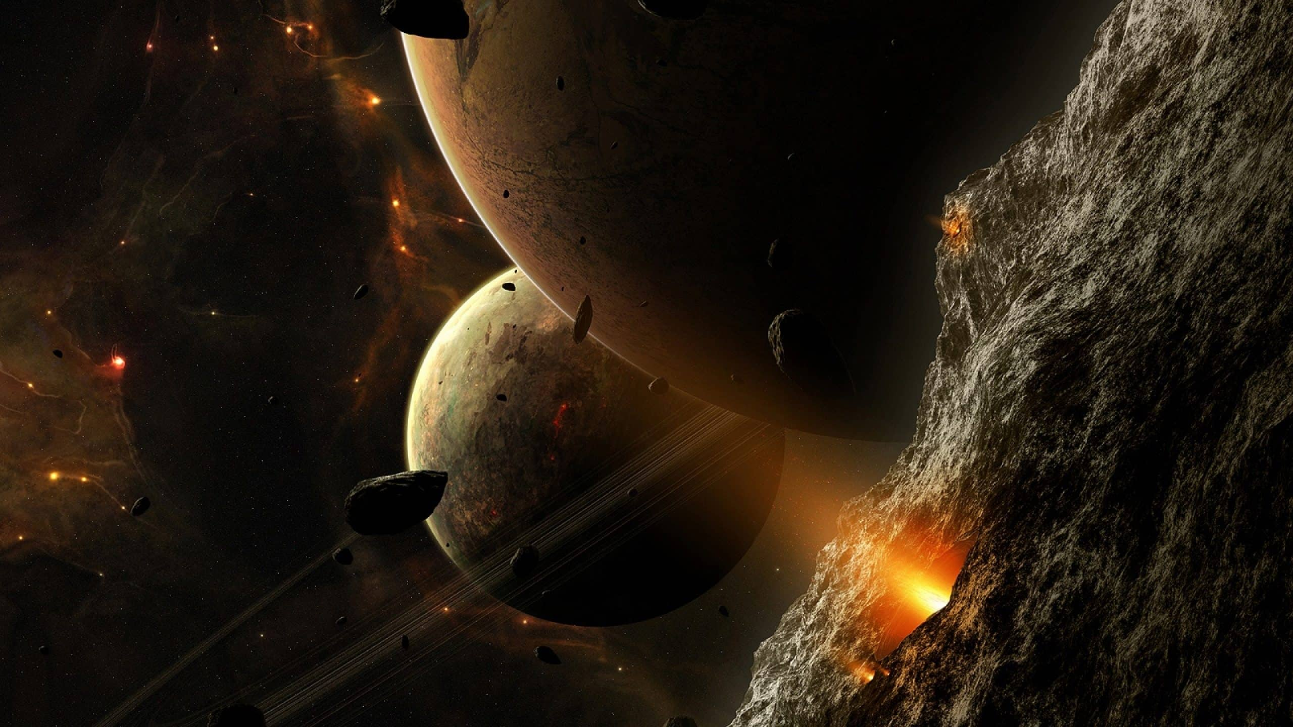 asteroid planets - HD1400×1050