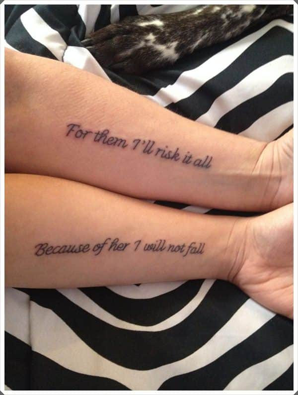 Cool Mother Daughter Matching Tattoos – Mutually