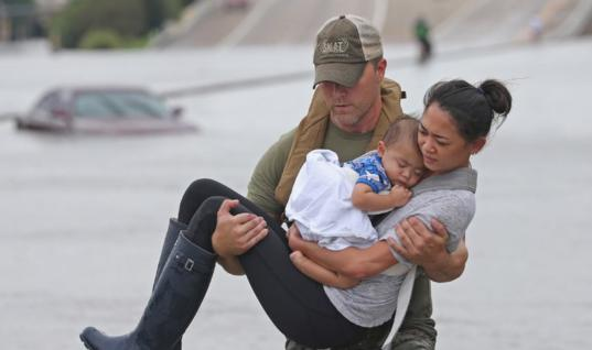These Shocking Acts of Kindness During Recent Hurricane Disaster Will Restore Your Faith In Humanity 21 Heartwarming Photos of Hurricane Harvey Rescuers Banding People, 17 Shocking Images to Restore Your Faith in Humanity During the Hurricane Harvey Disaster, These People Have Demonstrated a Valuable Lesson for All Those Around the World, Kid Sends a Heartfelt Letter to His Dad Deployed at Hurricane Harvey Rescue Operation Center, Dogs, Birds and Snakes Drop All Defenses As They are Rescued During Hurricance Harvey Disaster, Father and Son Dress Up as Batman to Help Evacuees at Hurricane Harvey Shelters, These Powerful Photos Capture Random Acts of Kindness During Hurricane Harvey Disaster,  20+ Photos of Cuteness Overload During Hurricane Harvey Incident, Police Officer Hugs His Young Daughter During This Last Minute Photo Taken During Hurricane Harvey Rescue Operations