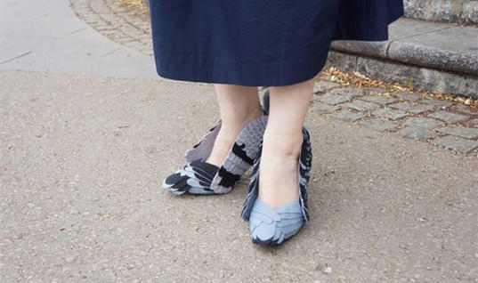 Japanese Woman Wears DIY Pigeon Shoes…Wait…What?