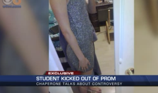 Teen Girl Asked To Leave Prom After Dads Couldn't Handle Her Dress