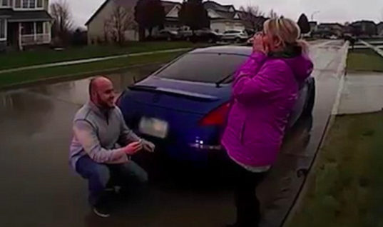 Couple Gets Arrested By Police, But Then The Woman Sees Her Man Getting On Knees