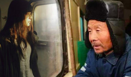 Old Man Is Worried About Lady Standing In Moving Train, But He Has No Idea About The Secret She Is Hiding From Everyone