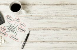 Top view personal planning financial with coffee and copy space Free Photo